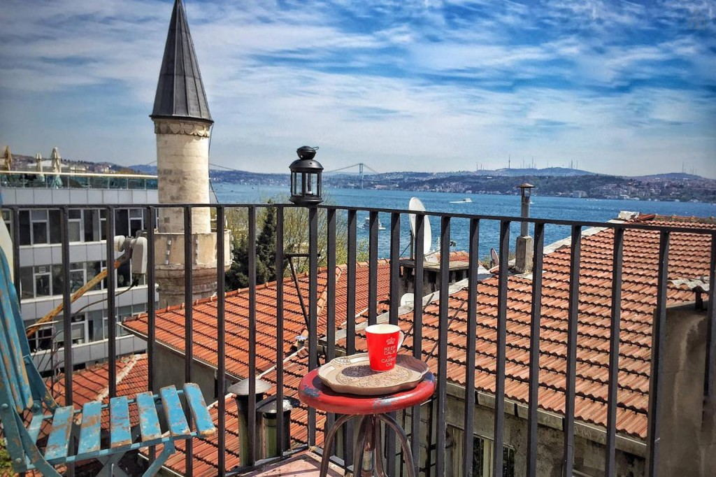 View from Colony Hostel Istanbul