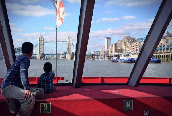 London_hop-on_hop-off_boat_tour_-_View_on_Boat