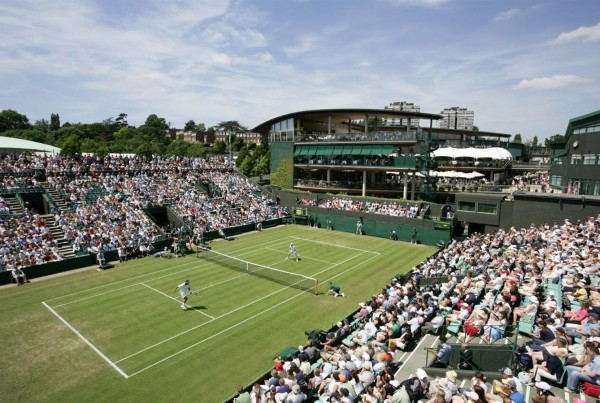 Wimbledon Tour tennis court