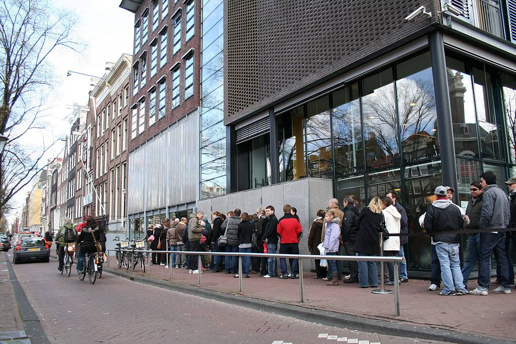 where is the anne frank house - waiting time